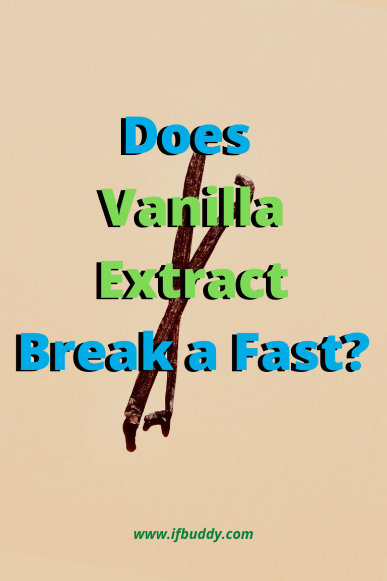 does vanilla extract break a fast